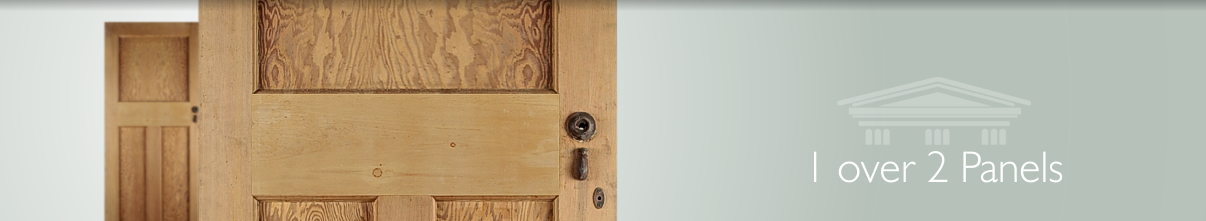 Pine And Oak Reclaimed Doors In A 1 Over 2 Panel Style English Salvage