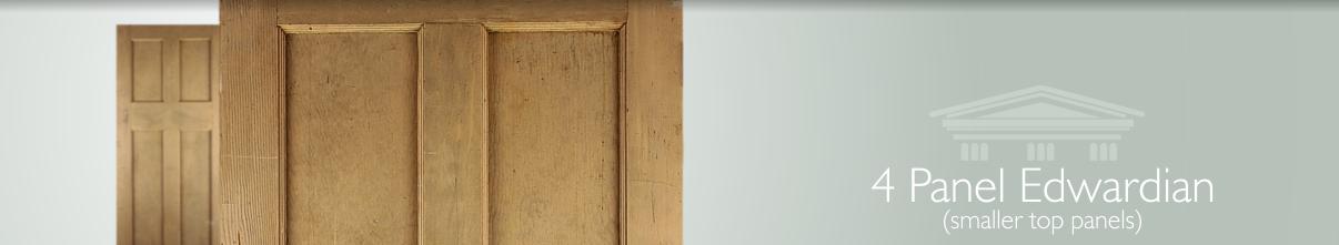 Reclaimed Edwardian Pine Four Panel Doors English Salvage