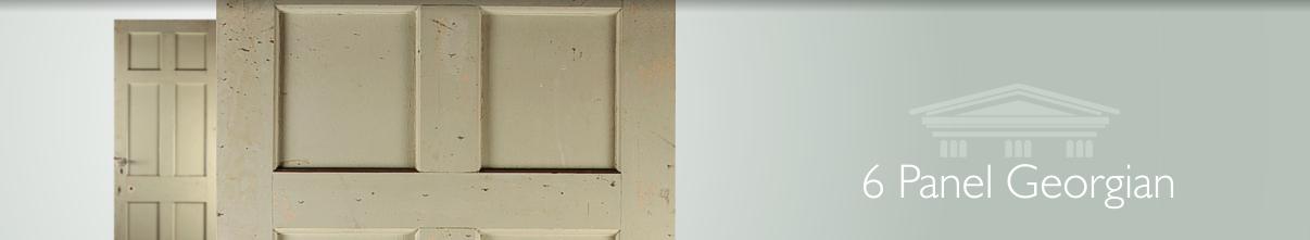 Reclaimed Georgian Pine Doors Traditional Six Panel Door For The