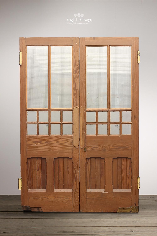 (Set41) Reclaimed Pitch Pine School Doors