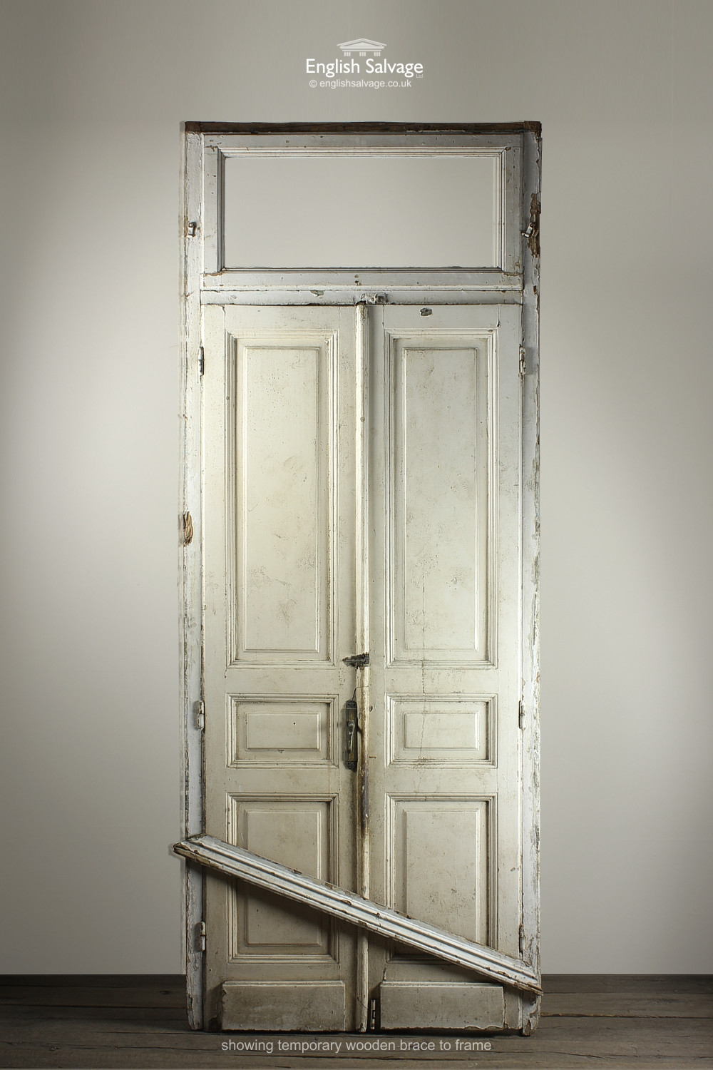 Set53 Salvaged Doors In Frame With Fanlight