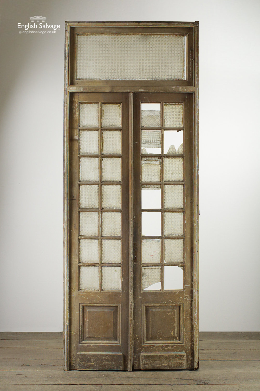 Set53 Tall Glazed Pine Doors With Frame