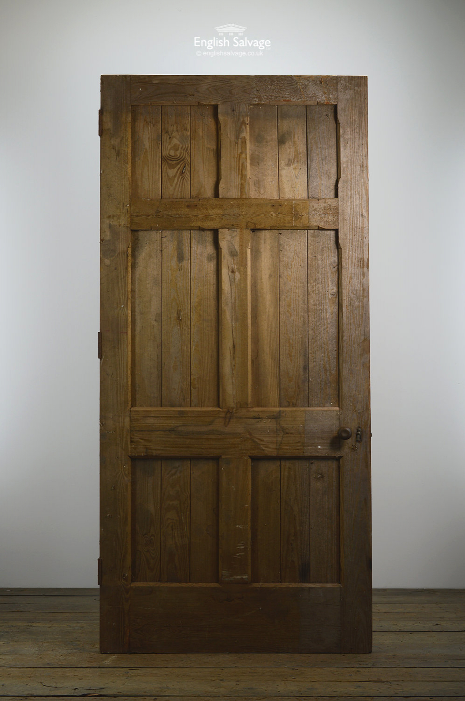 Set73 Pitch Pine 6 Panel External Wood Door