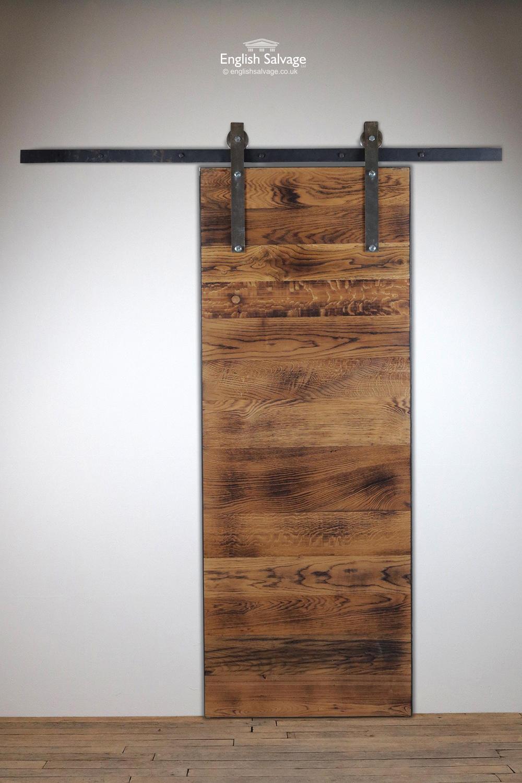 Sete4 Oak Plank Sliding Door And Rail Kit