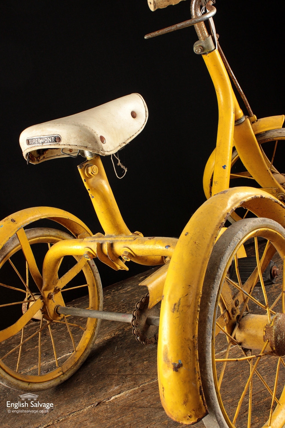 1960 S Vintage Yellow Tricycle
