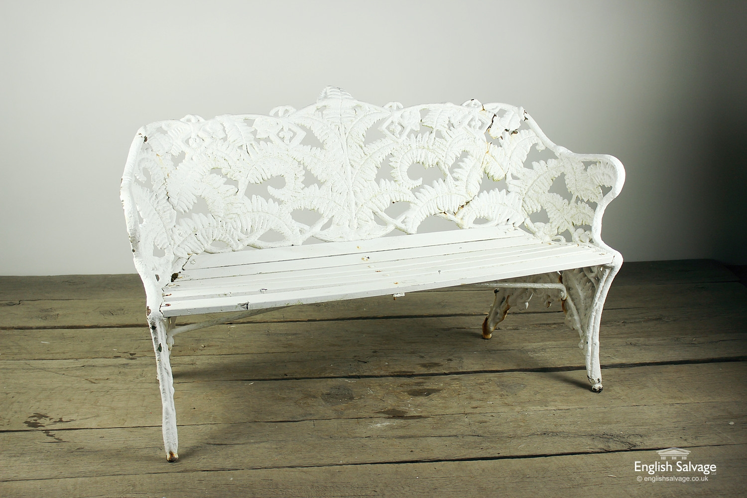 19th Century Fern And Blackberry Bench