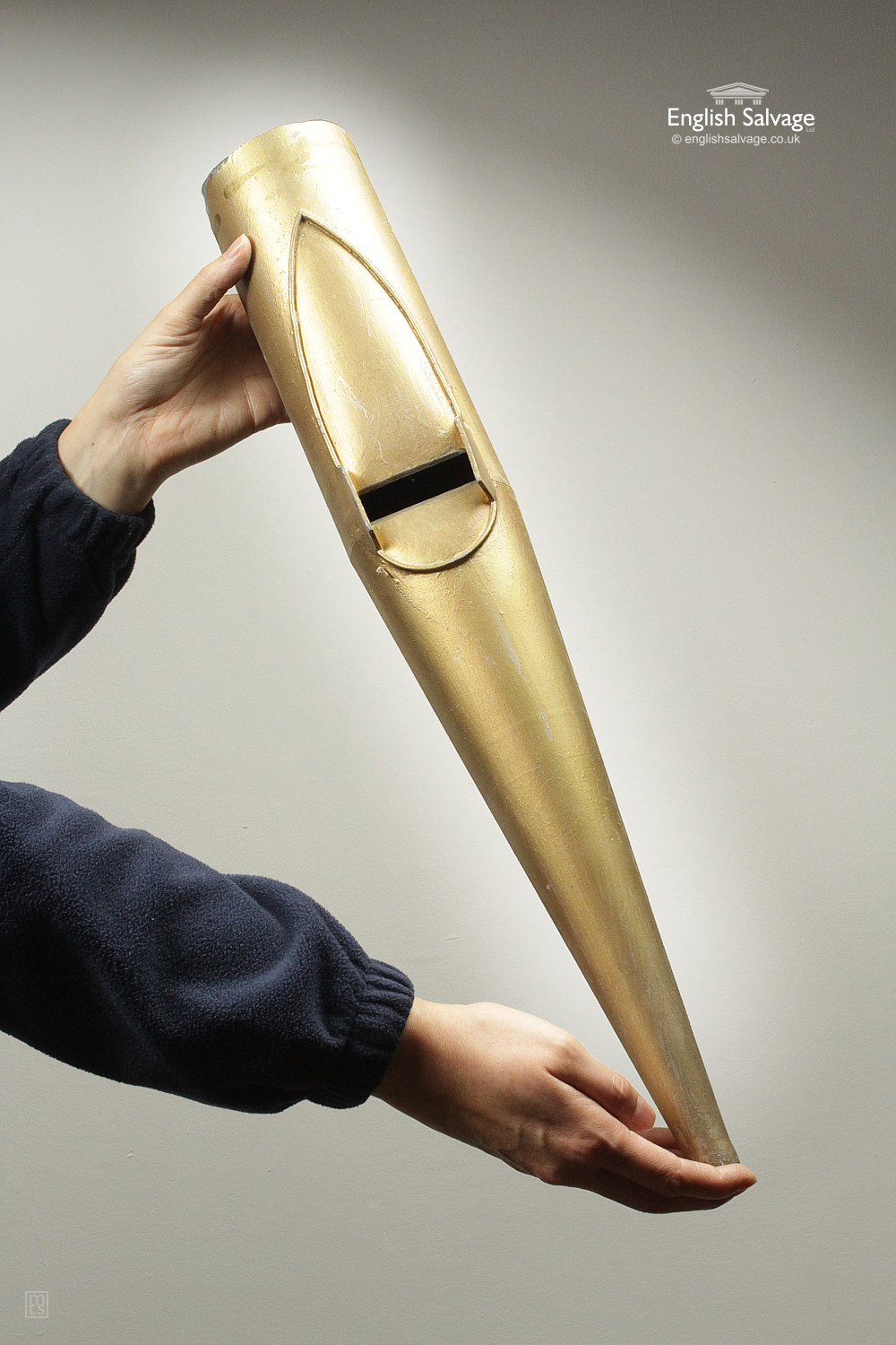Reclaimed Gold Painted Organ Flue Pipes