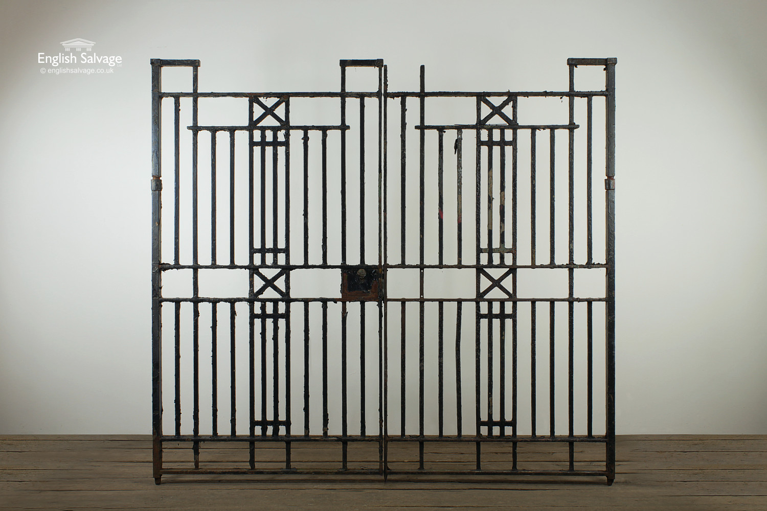 Wrought Iron Cross Bar Pedestrian Double Gate