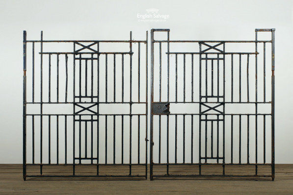 Reclaimed Wrought Iron Double Drive Gate