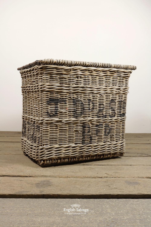 Reclaimed Wicker Laundry Hamper Basket