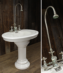 salvaged antique french basins reclaimed by english salvage. Black Bedroom Furniture Sets. Home Design Ideas