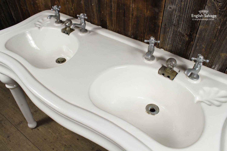 french jacob delafon double pedestal basin. Black Bedroom Furniture Sets. Home Design Ideas