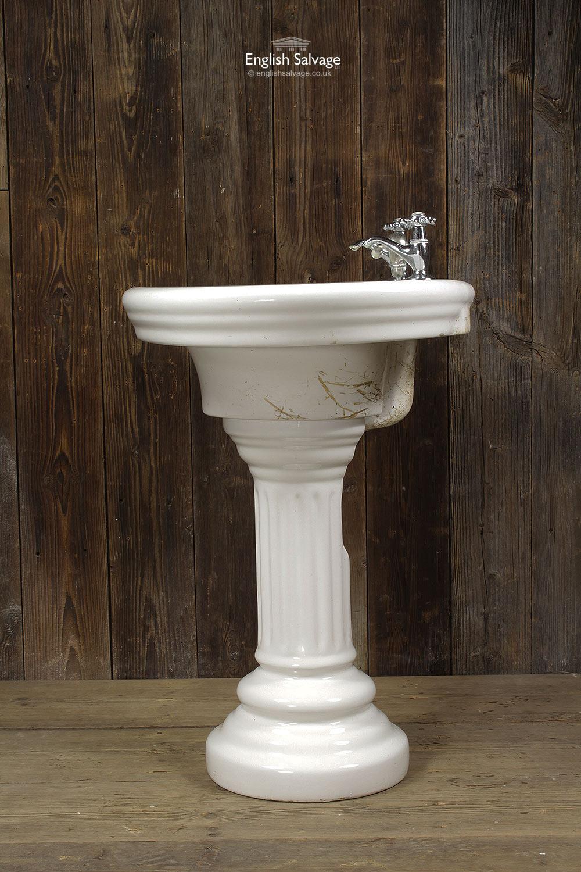 reclaimed jacob delafon pedestal wash basin. Black Bedroom Furniture Sets. Home Design Ideas