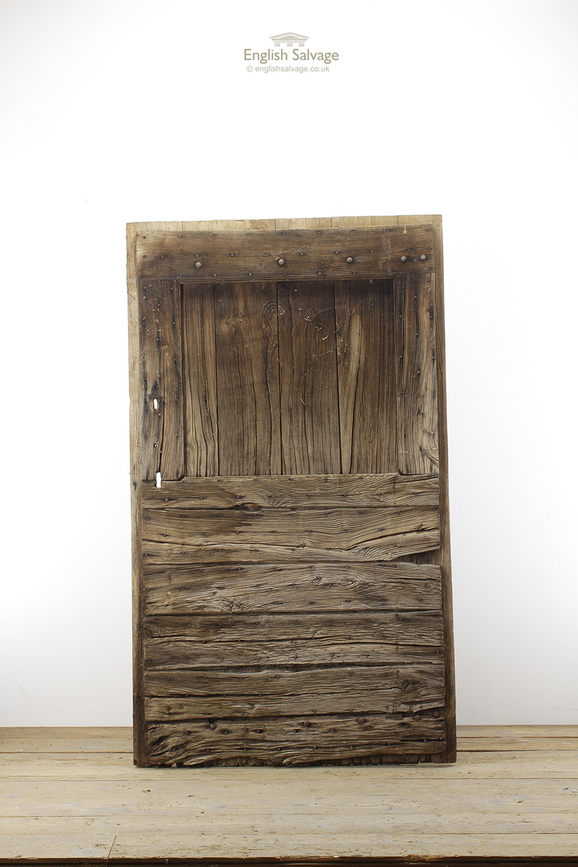 Antique Chestnut Studded Double Planked Door