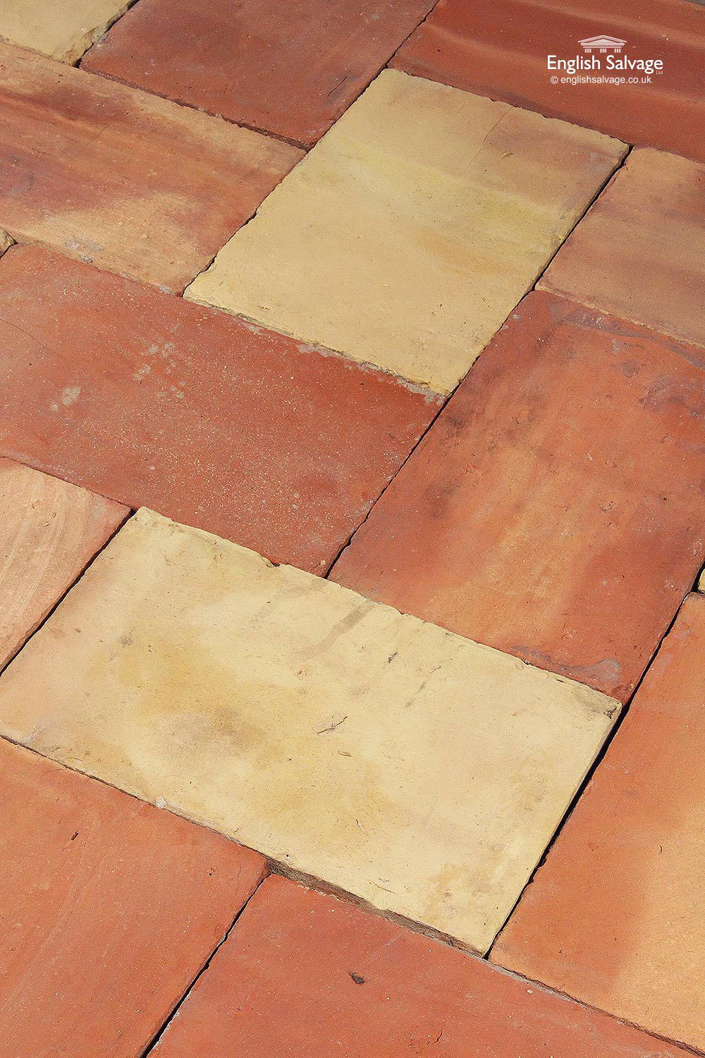 Reclaimed Buff Orange Terracotta Floor Tiles