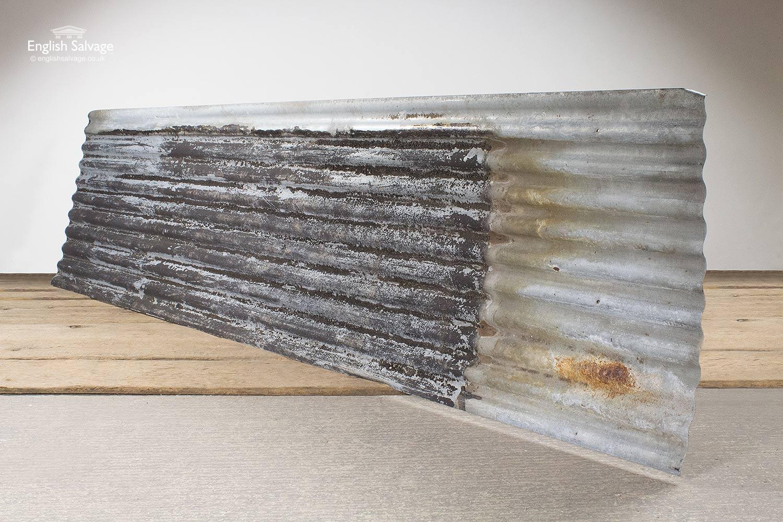 Reclaimed Rectangular Corrugated Tin Sheets