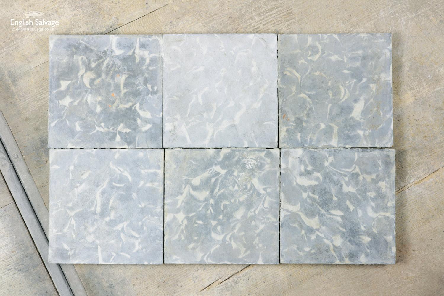 Abstract Grey White Cement Tiles