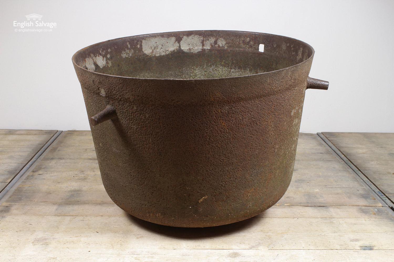 Large Antique Cast Iron Pot Cauldron