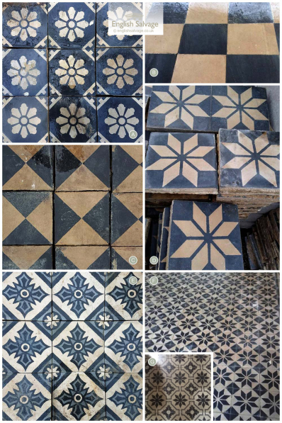 Sourcing Black & White Antique Cement Tiles