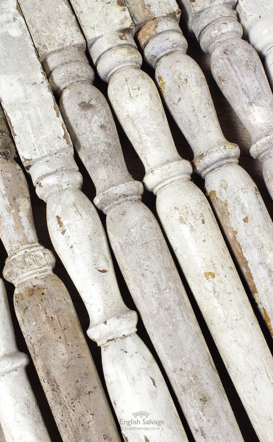 Salvaged Turned Wood Staircase Spindles