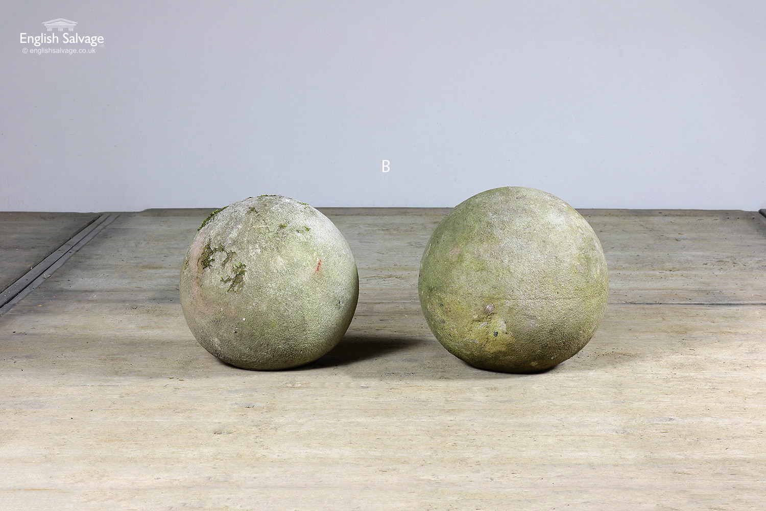 Reclaimed Small Spherical Stone Finials