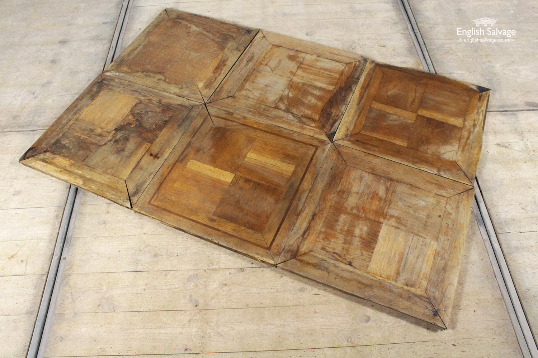 Reclaimed Square Oak Panel Parquet Flooring