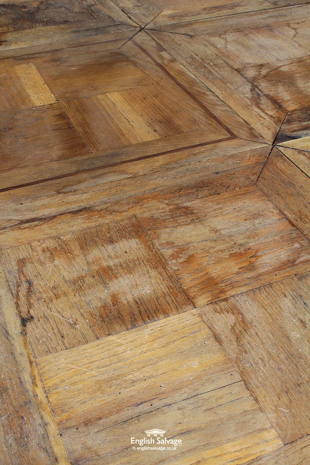 Reclaimed Square Oak Panel Parquet Flooring