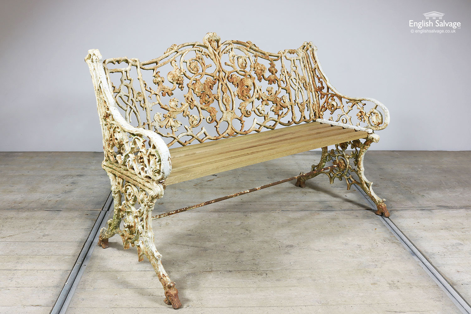 Miraculous Reclaimed Ornate Garden Bench Chairs Set Pdpeps Interior Chair Design Pdpepsorg