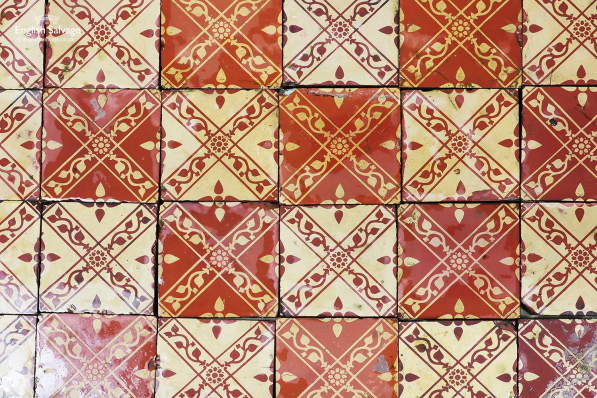 Antique Maw & Co Encaustic Tiles Job Lot