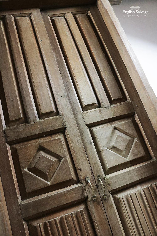 Salvaged Teak Double Doors In Frame