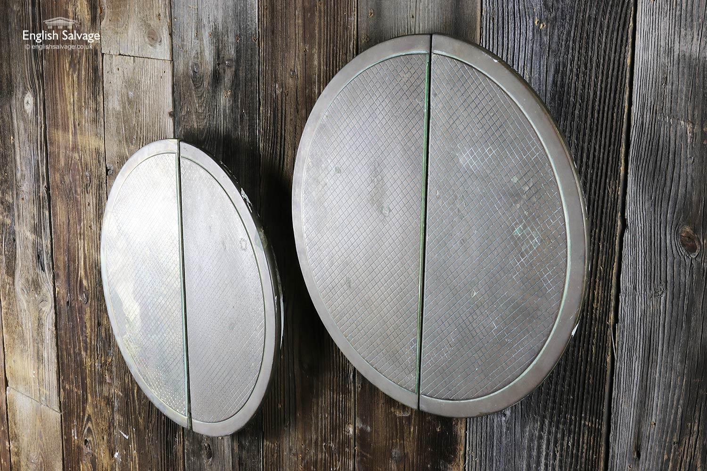 Art Deco Brass Half Moon Door Push Pulls
