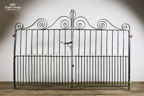 Reclaimed Iron Narrow Double Driveway Gates