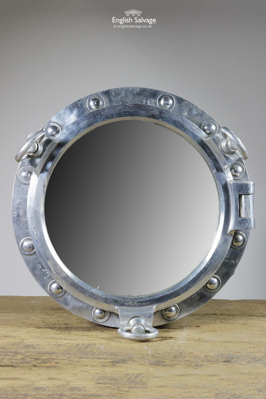 Reclaimed Aluminium Porthole Mirror