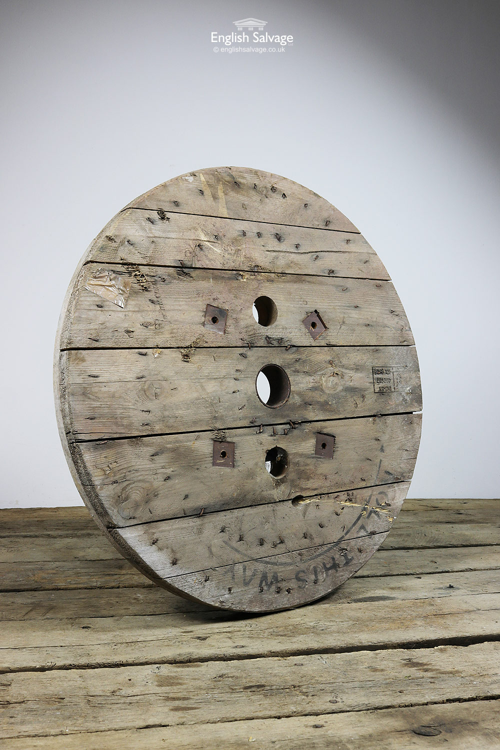 Pine Cable Reel Table Top Light Canopy