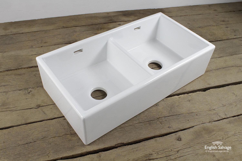Whitebirk White Double Sink