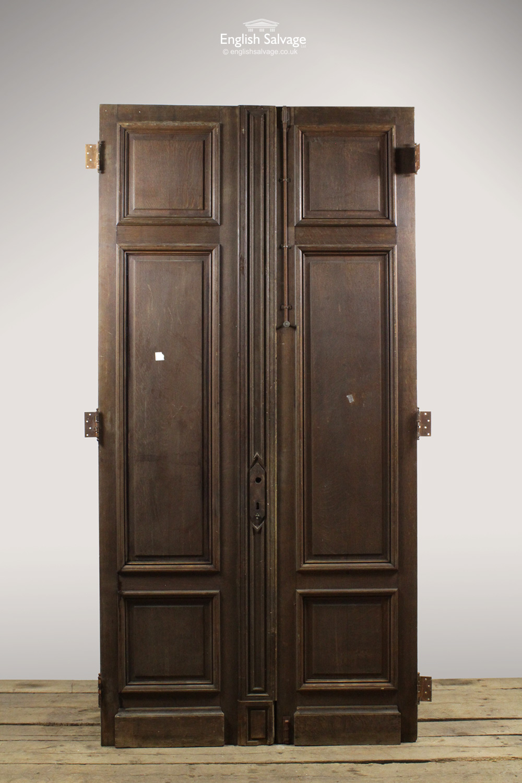 Antique French Oak Pine Double Doors
