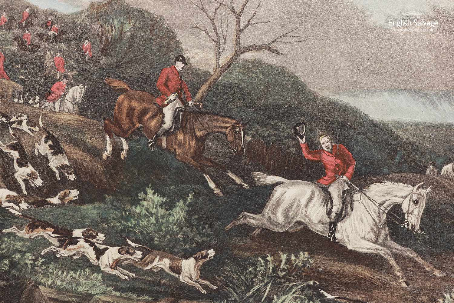 Old W J Shayer Fox Hunting Scene Prints