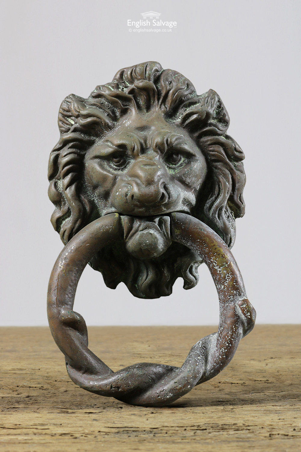Reclaimed Brass Lion Head Door Knocker