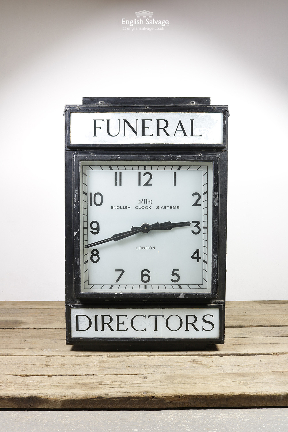 Vintage Funeral Directors Clock By Smiths