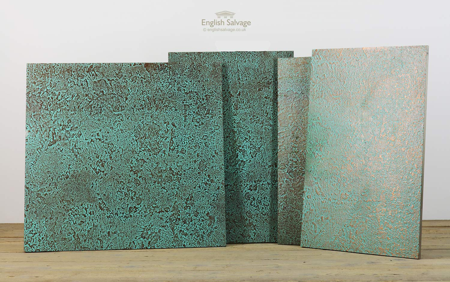 Salvaged Patinated Copper Fronted Panels