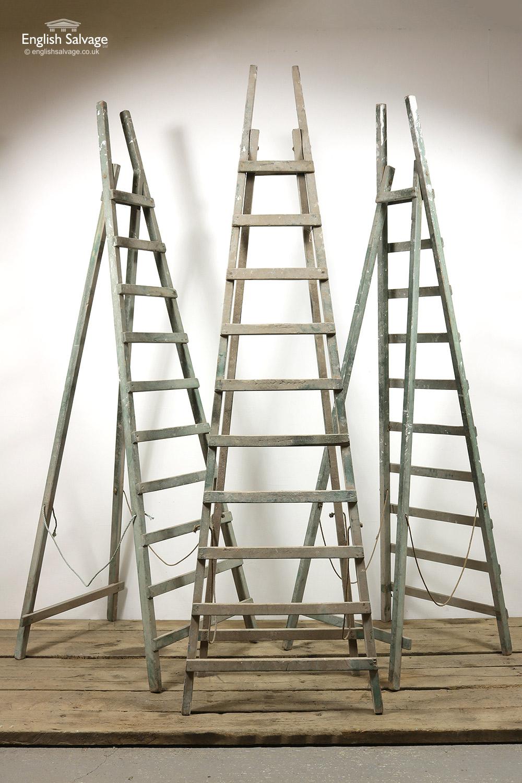 Vintage Wooden Fruit Picking Ladders