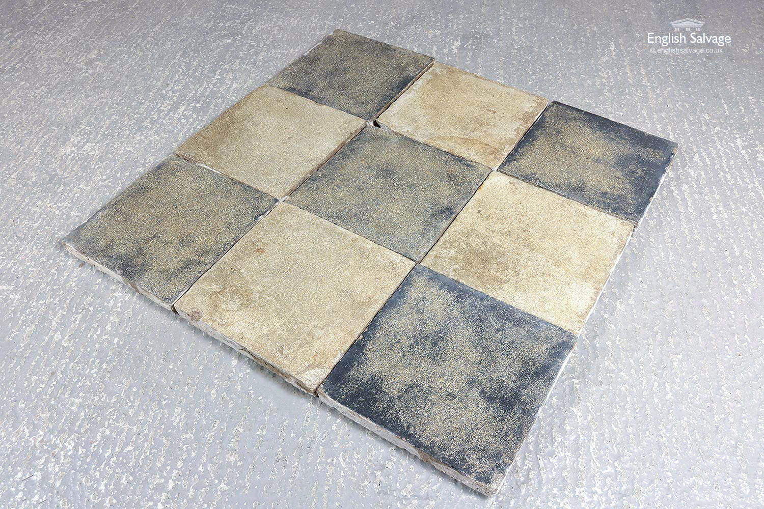 Antique Beige And Black Cement Floor Tiles