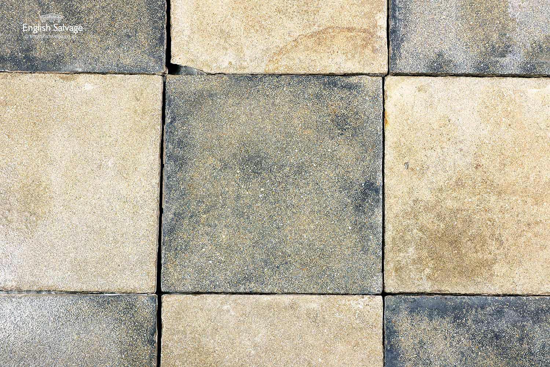 Antique Beige And Black Cement Floor Tiles