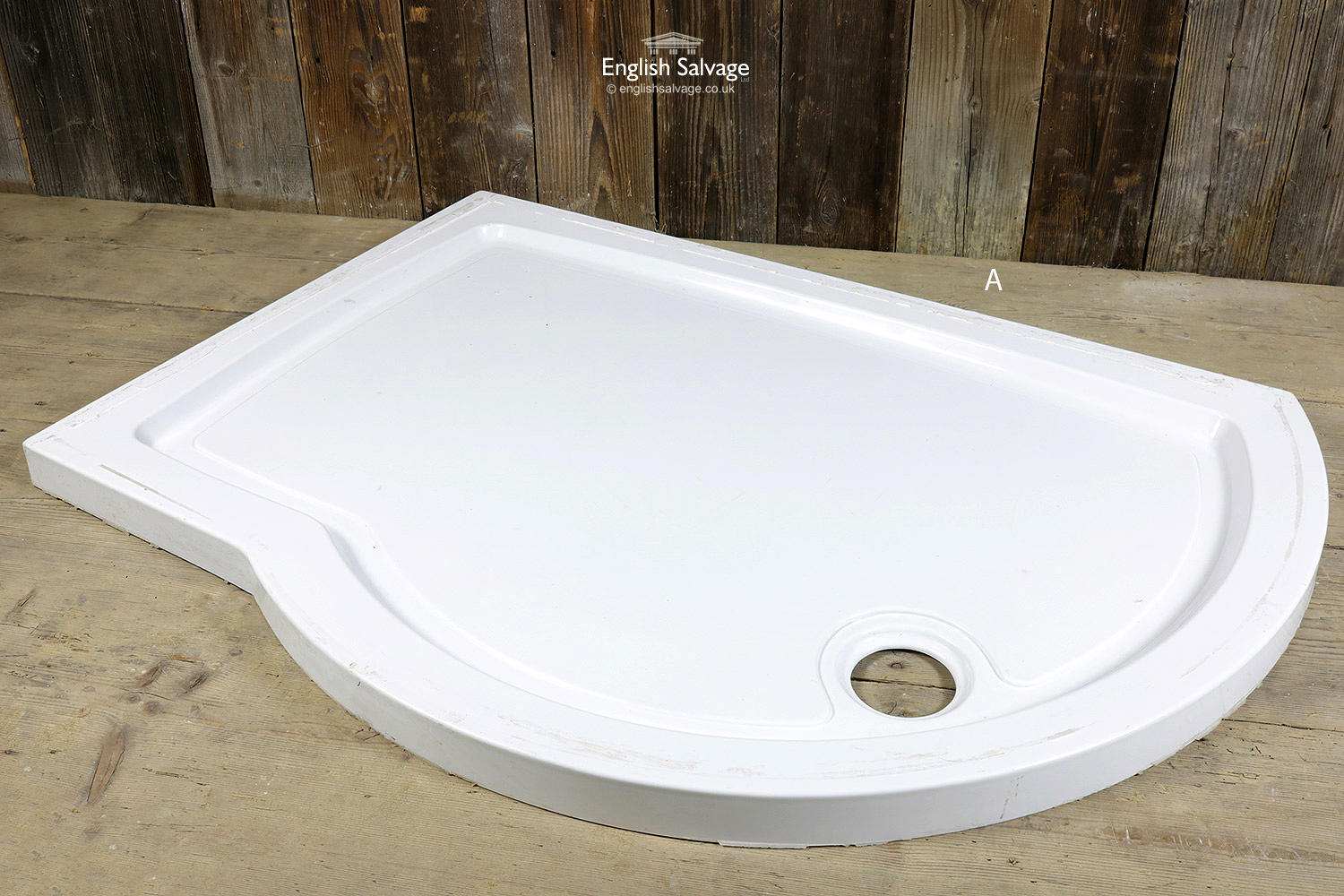 White Fibreglass Shaped Shower Trays