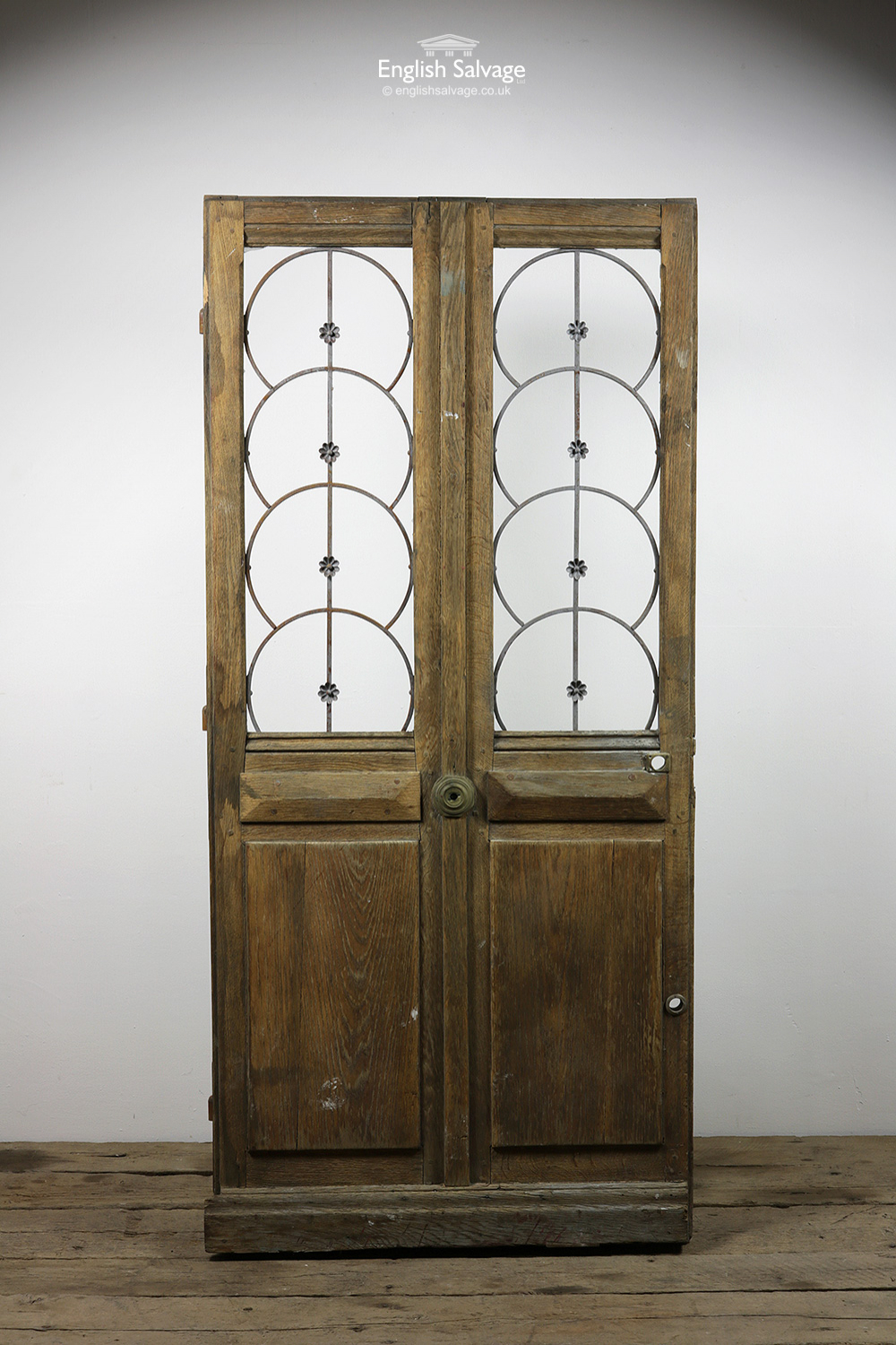 to from letter oak door with ornate metalwork 25296 | old french oak door with ornate metalwork 25296 pic1 size3