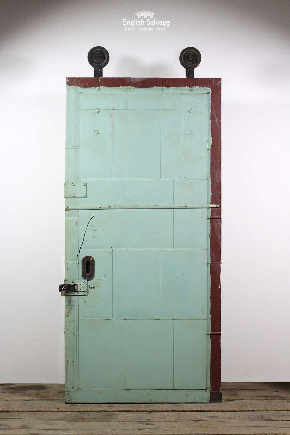 Setb3 Reclaimed 57 Factory Metal Fire Door