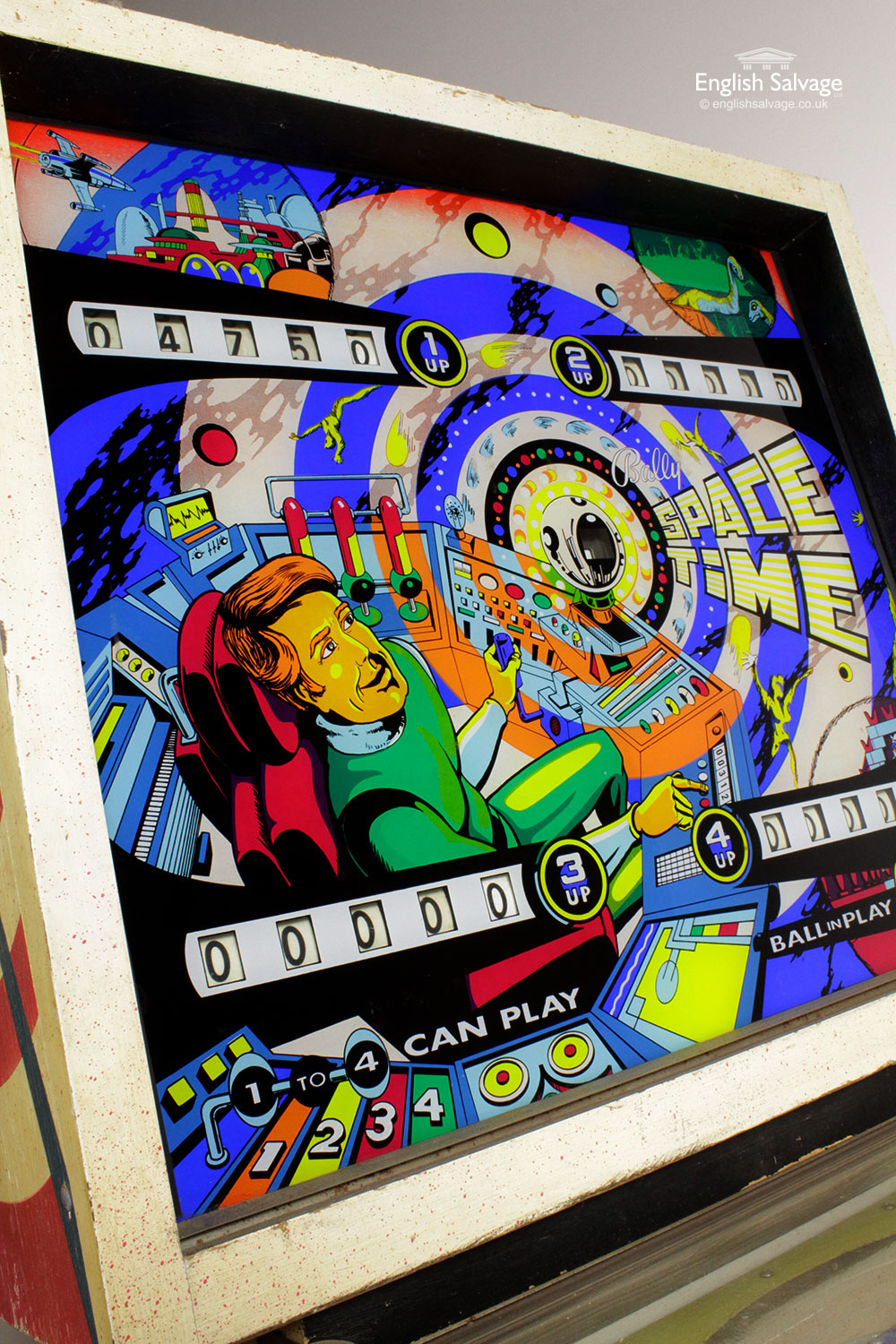 Vintage Bally Space Time Pinball Machine