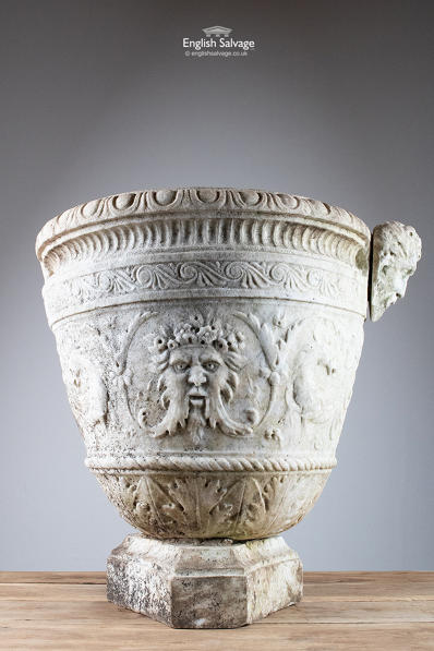 Early Neo Classical Marble Urn & Stone Plinth