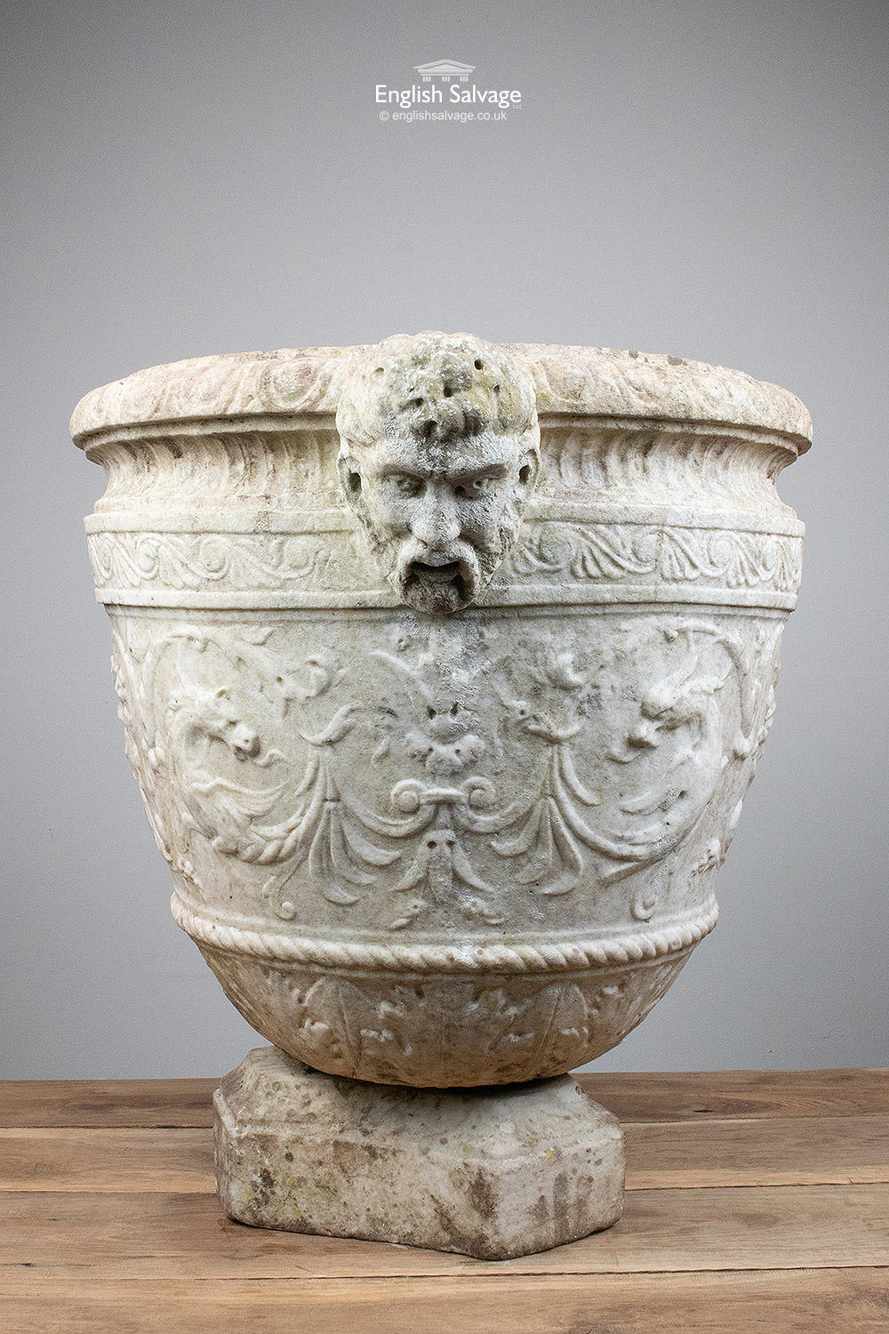 Early Neo Classical Marble Urn Amp Stone Plinth