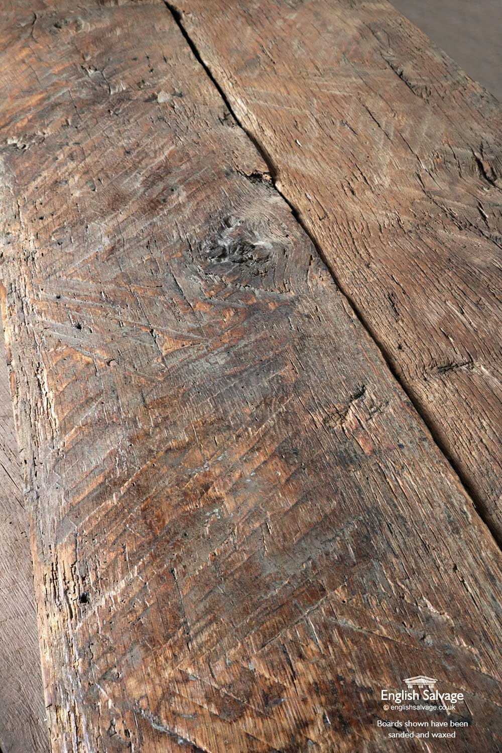 Chunky Antique Oak Planks For Table Tops